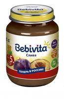 Пюре Бэбивита (Bebivita) слива с витаминами с 5 мес. 100г упак.