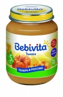 Пюре Бэбивита (Bebivita) тыква 5 мес. 100г упак.