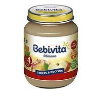 Пюре Бэбивита (Bebivita) яблоко с витаминами с 4 мес. 100г упак.