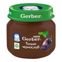 Пюре Gerber чернослив 4 мес. 80г