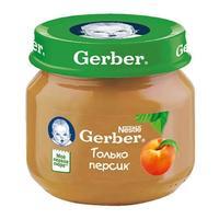 Пюре Gerber персик 4 мес. 80г упак.