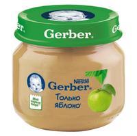 Пюре Gerber яблоко 4 мес. 80г упак.