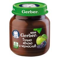 Пюре Gerber яблоко и чернослив 5 мес. 130г упак.