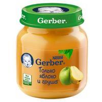 Пюре Gerber яблоко и груша 5 мес. 130г упак.