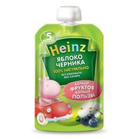 Пюре Heinz яблоко и черника пауч 5 мес. 90г упак.