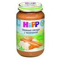 Пюре Hipp нежные овощи с телятиной с 8 мес. 220г 1 шт.