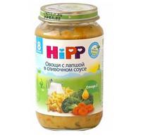 Пюре Hipp овощи с лапшой в сливочном соусе с 8 мес. 220г 1 шт.
