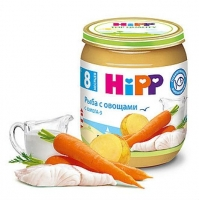 Пюре Hipp рыба с овощами с 8 мес. 125г 1 шт.