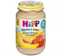 Пюре Hipp яблоко банан, детское печенье с 6 мес. 190г 1 шт.