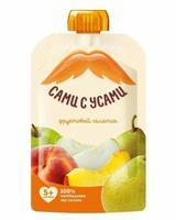 Пюре Сами с усами фруктовый салатик из яблок персика груши 5 мес. 100г пауч упак.