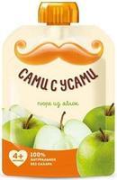 Пюре Сами с усами яблоко без сахара пауч 4 мес. 100г пауч упак.