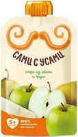 Пюре Сами с усами яблоко груша 5 мес. 100г пауч упак.