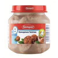 Пюре Семпер (Semper) Фрикадельки Телятина с 9 мес. 125г 1 шт.