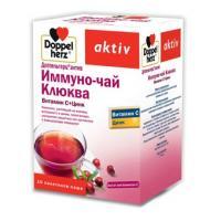 Доппельгерц актив иммуно-чай клюква витамин с + цинк пакетики-саше 15г №10 (бад)