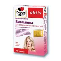 Доппельгерц актив витамины д/здоровых волос и ногтей №30 капс. 1150мг (бад)