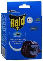Raid фумигатор от комаров + 10 пластин . 1 уп.