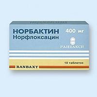 Норбактин таблетки 400 мг, 10 шт.