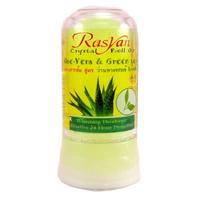 Райсан (Rasyan) дезодорант-кристалл с алое вера и зеленым чаем 80г