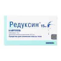 Редуксин капсулы 15 мг+153.5 мг 60 шт.