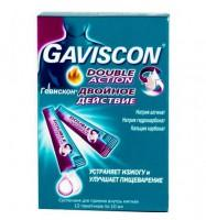 Гевискон двойное действие пакетики 10 мл, 12 шт.