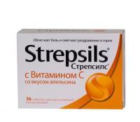 Стрепсилс с витамином с таблетки, 36 шт.