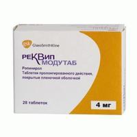 Реквип модутаб таблетки 4 мг, 28 шт.