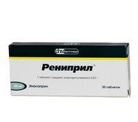 Рениприл таблетки 10 мг 20 шт.