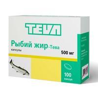 Рыбий жир капсулы 500 мг, 100 шт.