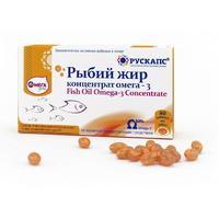 Рыбий жир концентрат Омега-3 капсулы 500 мг 90 шт.
