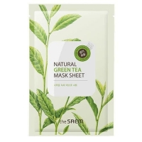 Saem Natural Green Tea Mask Sheet Маска тканевая с экстрактом зеленого чая 21 мл