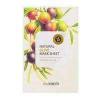 Saem Natural Olive Mask Sheet Маска тканевая с экстрактом оливы 21 мл