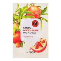 Saem Natural Pomegranate Mask Sheet Маска тканевая с экстрактом г аната 21 мл