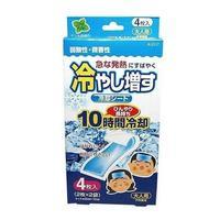 Салфетки-пластыри Kokubo охлаждающие гелевые при температуре и головной боли с ароматом мяты 4 шт.