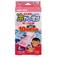 Салфетки-пластыри Kokubo охлаждающие гелевые при температуре и головной боли с маслом персика 4 шт.