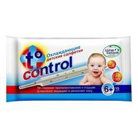 Салфетки Страна Здравландия охлаждающие жаропонижающие детские T-control 15 шт.
