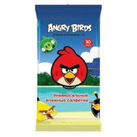Салфетки влажные Angry Birds универсальные 30 шт.