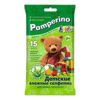 Салфетки влажные Памперино 15 шт.