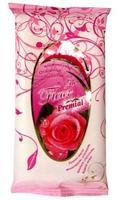 Салфетки влажные Премиал (Premial La Fleur) очищающие(роза) 15 шт.