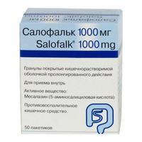 Салофальк гранулы киш-раств.пролонг.действия 1000 мг 50 шт.