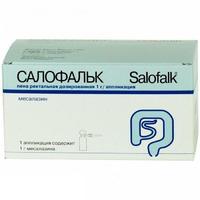 Салофальк 1г/аппликация пена рект. дозир. 14аппликаций (7доз) баллон м/до 06.15г/