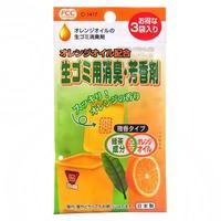 Sanada Seiko поглотитель запахов для мусорных ведер с ароматом цитруса 3 шт.