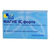 Магне б6 форте таблетки, 30 шт.