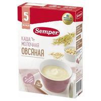 Семпер (Semper) Каша молочная овсяная 5 мес. 200г упак.