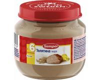 Семпер (Semper) Пюре моно мясо Телятина с 6 мес. 90г 1 шт.