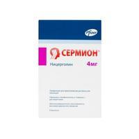 Сермион лиофилиз. для пригот.р-ра для инъекций 4 мг флаконы 4 шт. упак.