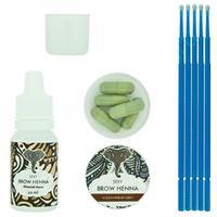 Sexy Brow Henna набор Коричневая хна 5 капсул+минеральный раствор 10 мл 1 уп.