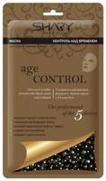 Shary Контроль над временем маска тканевая для лица Черная икра и коллаген 20г