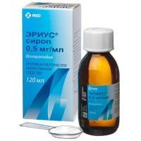 Эриус сироп 2.5 мг/5 мл, 120 мл
