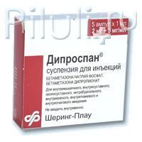 Дипроспан сусп. д/ин. 2мг+5мг/мл 1мл амп. х5 б м (r)
