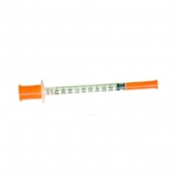Шприц инсулиновый 1 мл/U-100, 0,33 мм (29G) х 12,7 мм, 1шт.